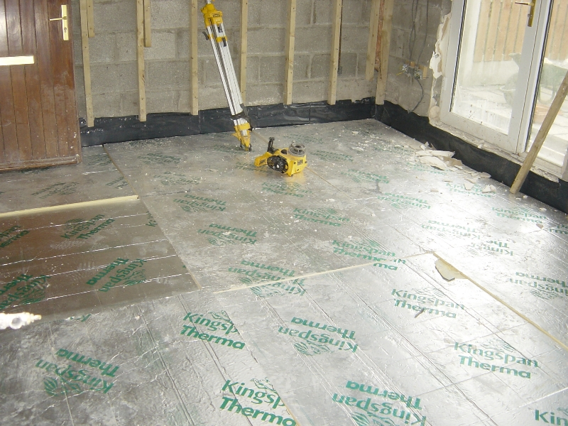 Fitting new floor insulation